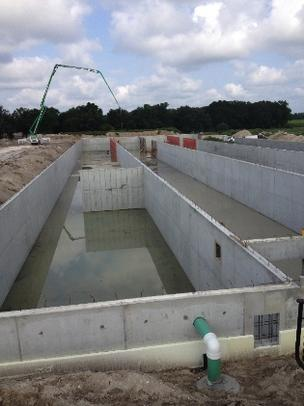 The Jacksonville contractor Dana B. Kenyon Co. is building this biogas power plant for Alliance Dairy in Trenton, west of Gainesville.