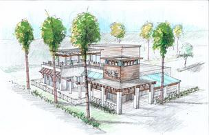 A rendering of the fourth Salt Life Food Shack, scheduled to open across from the St. Augustine Beach Pier toward the end of summer.