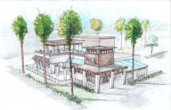 An artist's rendering of the fourth Salt Life Food Shack, scheduled to open across from the St. Augustine Beach pier in 2013.
