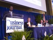Jacksonville Mayor Alvin Brown. The city was honored in the gold category.