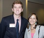 From left to right: Chris Warren and Anna Valent.