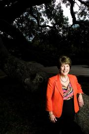 Connie Hodges, president and CEO of the United Way of Northeast Florida, at the Treaty Oak on the Southbank.