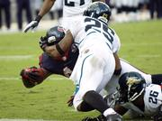 Houston Texans Running Back Ben Tate rushes for one of his two touchdowns against Jacksonville.