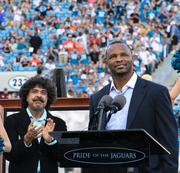Retired Jaguars running back Fred Taylor was honored at halftime by team owner Shahid Khan.