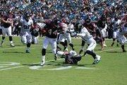 Houston running back Ben Tate breaks free for a long run against the Jaguars.