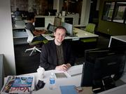 Mike Glass, president of Pocket Sevens, lease a workstation from CoWork Jax in Downtown Jacksonville.On Page 1 you can read how the Jacksonville tech community, including Glass' Pocket Sevens, is emerging and growing.