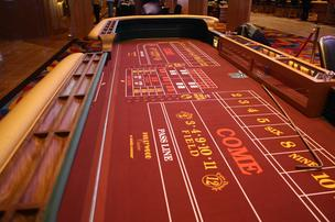 Hollywood Casino at Kansas Speedway craps table