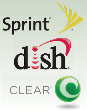 sprint nextel clearwire dish network softbank