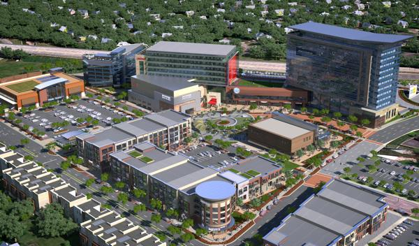 A rendering of the Mission Gateway project, where Walmart will serve as its anchor tenant.