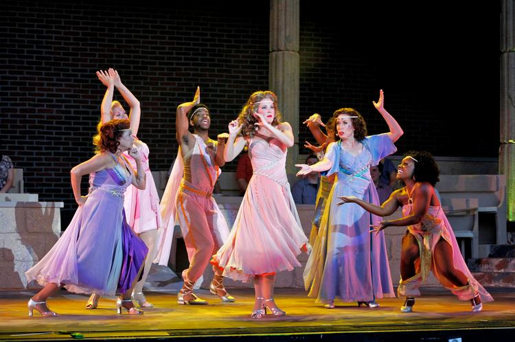 Kansas City Starlight Theatre, whose performance of Xanadu is pictured here, has cast InQuest Marketing Inc. and Meers Advertising after reviewing several local advertising agencies.