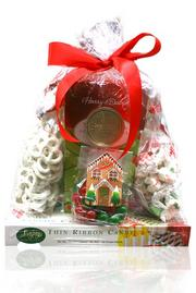 "A ""gift tower"" by Bitterman Family Confections"