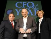 Kent Galley (center) won the small company category for CFO of the Year. He's vice president and CFO of Saepio Technologies Inc.