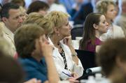 Audience members listen intently at the Kansas City Business Journal's sold-out Health Care Reform Symposium.