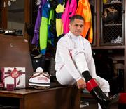 Jockey Javier Castellano sports his Helzberg Diamonds apparel.
