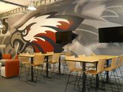 """Joplin's interim high school has several """"Info Links,"""" which are small group gathering areas and collaboration spaces that offer students a place to relax, socialize and complete group projects."""
