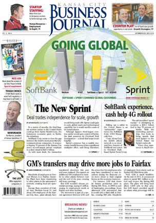 Kansas City Business Journal newspaper Oct. 19-25 front page
