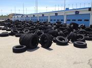 The road race track at Kansas Speedway will use about 7,000 tires to provide safety along the turns of the infield course.