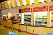 Hungry and thirsty kids will find refreshments at Legoland Discovery Center's concession stand.