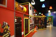 The play structure at Legoland Discovery Center is two levels.