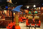 Kids can ride this carnival-style ride inside Legoland Discovery Center.