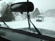This mail truck is out on the road making deliveries. Well, you know the saying.