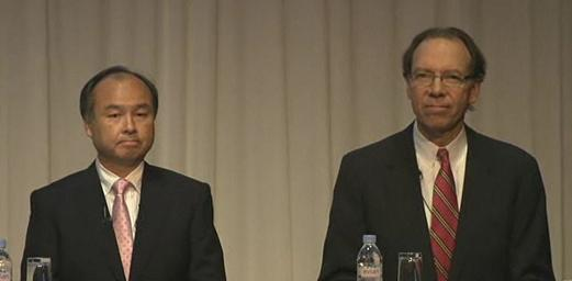 SoftBank's Masayoshi Son with Sprint CEO Dan Hesse.