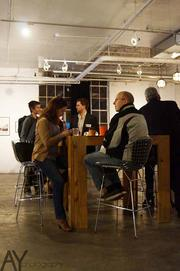 One of the Startup Crawl stops included OfficePort, a Kansas City co-working space.