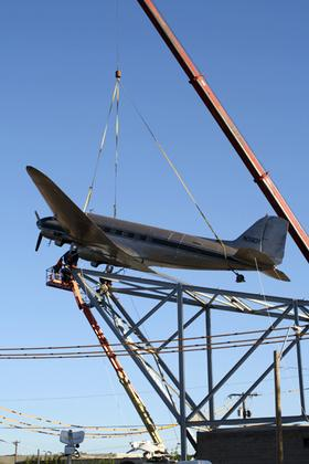 As part of a $5 million renovation, The Roasterie mounted a DC-3 onto its roof in September.