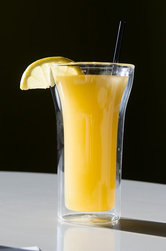 "The ""Sunshine Boulevard"" specialty drink is one of the most popular beverages at Snow & Co."