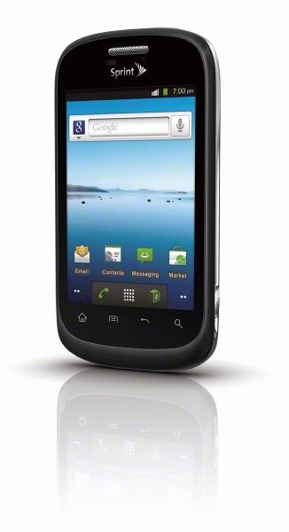 ZTE makes Android smartphones like Sprint's Fury (above). The company announced a partnership with Nuance to put the Massachusetts company's speech recognition technology into its Android devices.
