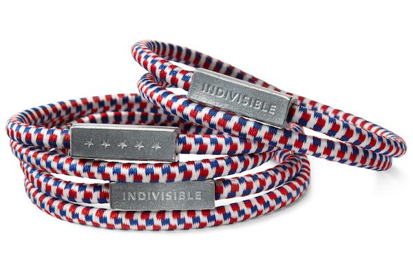 Election Day also can mean freebies, such as a patriotic bracelet offered by Starbucks.