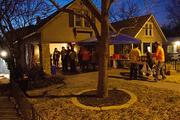 This house at 4454 State Line Road in Kansas City, Kan., which is located in a geographic cluster of local startups called KC Startup Village, served as one of the stops in Friday's Startup Crawl. The house is the headquarters for Local Ruckus LLC, Leap2 LLC and other fledgling technology companies.