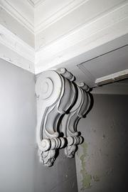 Architects worked to feature original corbels in rooms and the seventh-floor hallway.