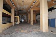 This pre-renovation photo looks back at the entrance to what is now the Ambassador Hotel.