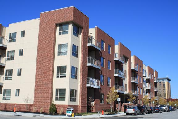 The East Village Apartments in downtown Kansas City open to new residents.