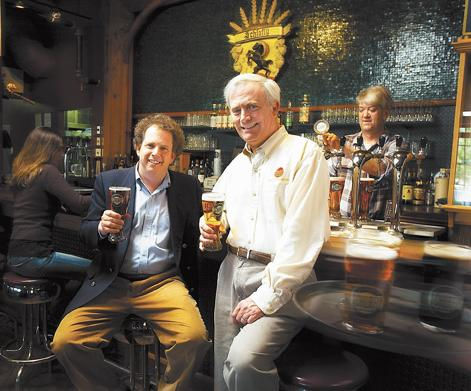 St. Louis Brewing Co. co-owners Dan Kopman (left) and Tom Schlafly