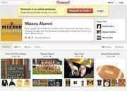 The Mizzou Alumni Association's Pinterest page links to Missouri sports photos, fan gear and recipes.