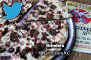 Le Hog pizza from Grinders, which has two Kansas City locations@GrindersKC, 2,084 followershttp://www.grinderspizza.com/