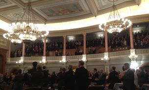 Gov. Sam Brownback delivered his annual State of the State address to a crowd that included Grover Norquist.