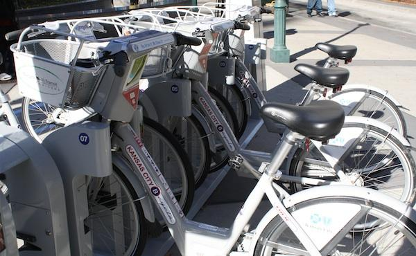 A file photo of Kansas City's B-cycle program. Thanks to a new initiative, San Antonians will be able to access any of the B-cycle sites throughout the country.