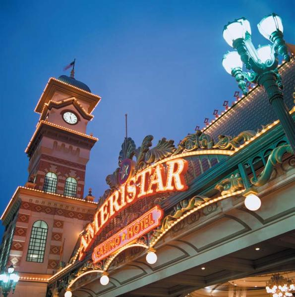 Of the four local riverboat casinos, Ameristar Casino Hotel Kansas City recorded the smallest drop in visitors last month.