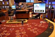 The casino has poker tables on the main floor, in an area left of the entrance and in a high-stakes area.