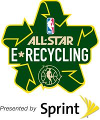 Sprint kicked off NBA Green Week on Tuesday during a cellphone recycling event at a Sprint store in New York.
