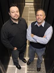 Lenexa-based Arsalon Technologies, founded by Bryan Porter (left) and Gary Hall, ranked 2,045th based on three-year revenue growth of 124 percent to $6.4 million last year. It has 25 employees, was founded in 2001 and ranks 238th in the IT services category.