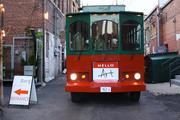 The Hello Art Trolley is for the Arts Incubator's membership and corporation-sponsored artist/patron connection program.