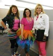 Burns & McDonnell employees Lindsey Underwood (left), Jessica Herrell and Jennifer Cartmell.
