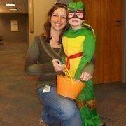 Burns & McDonnell employee Jessica Nelsen and her Teenage Mutant Ninja Turtle daughter, Delaney.