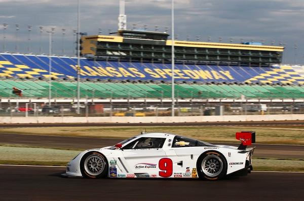 Grand-Am driver Joao Barbosa is one of the first drivers on the new Kansas Speedway track.