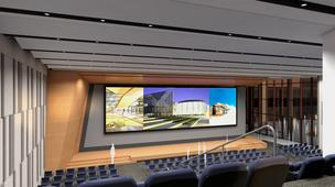 Burns & McDonnell auditorium rendering