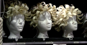Each of the 20 Quidam wigs are styled for every show.